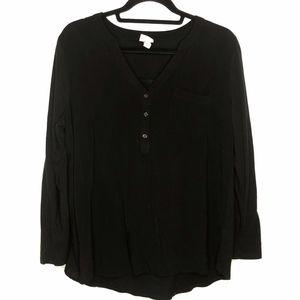 Merona Black Tunic Top Blouse